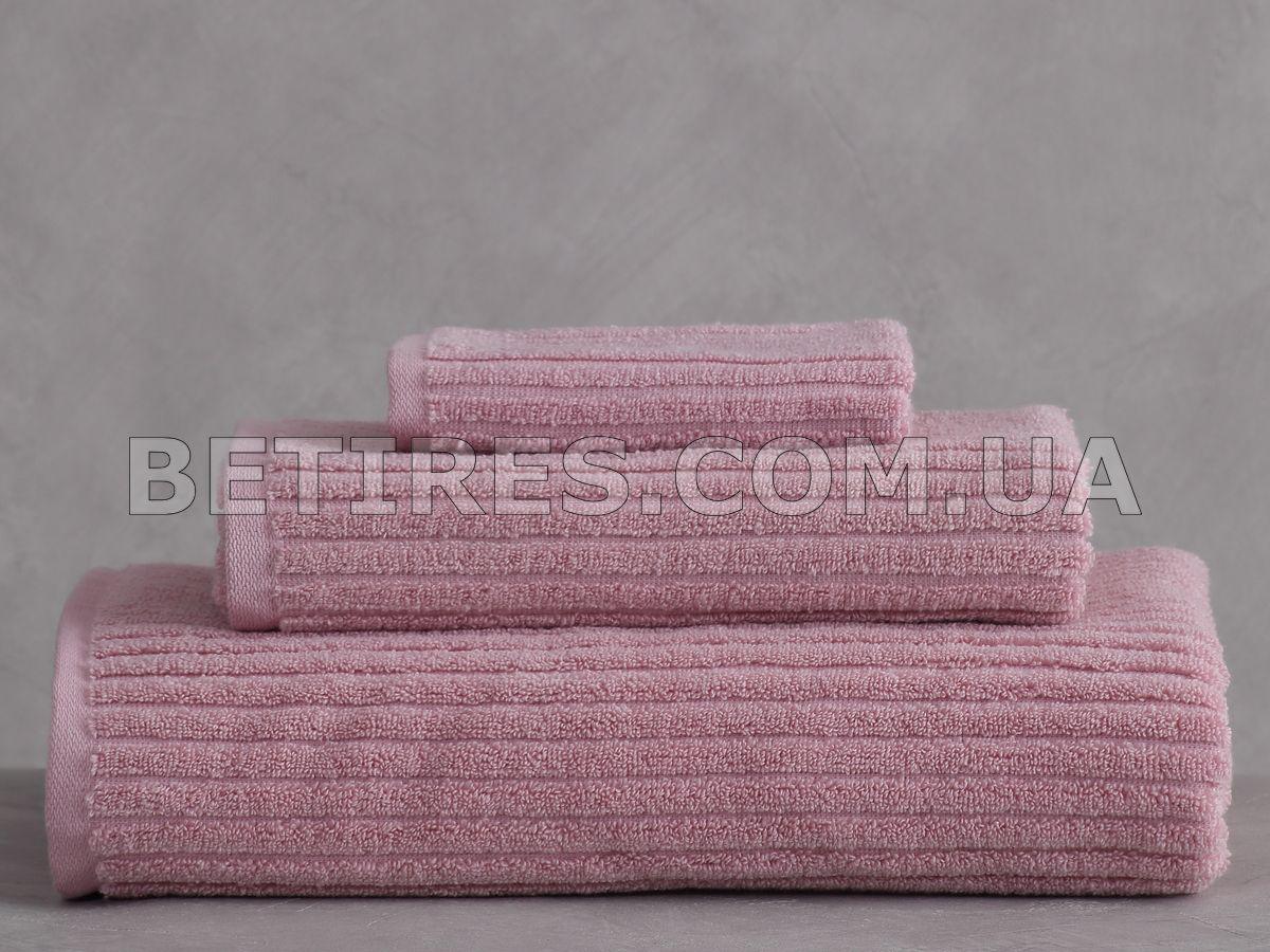 Набір рушників PAVIA STRIPE GUL KURUSU 3шт. (75х150,50х85,30x30) рожевий