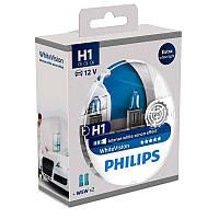 Галогенная лампа Philips WhiteVision H1 12V 12258WHVSM (2шт.)