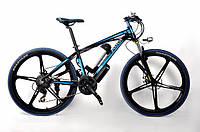 Электровелосипед Ultra Bike Audi black-blue мощный крутой экономичный велосипед на двигателе 250 ВТ