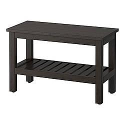 ✅ IKEA HEMNES (202.236.22) Скамья, черно-коричневое пятно