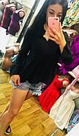 Блузка женская шелк вискозный черная