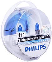 Галогенная лампа Philips DiamondVision H1 12V 12258DVS2 (2шт.)