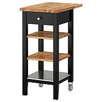 ✅ IKEA STENSTORP (202.198.37) Сервировочный столик, черный чай, dab