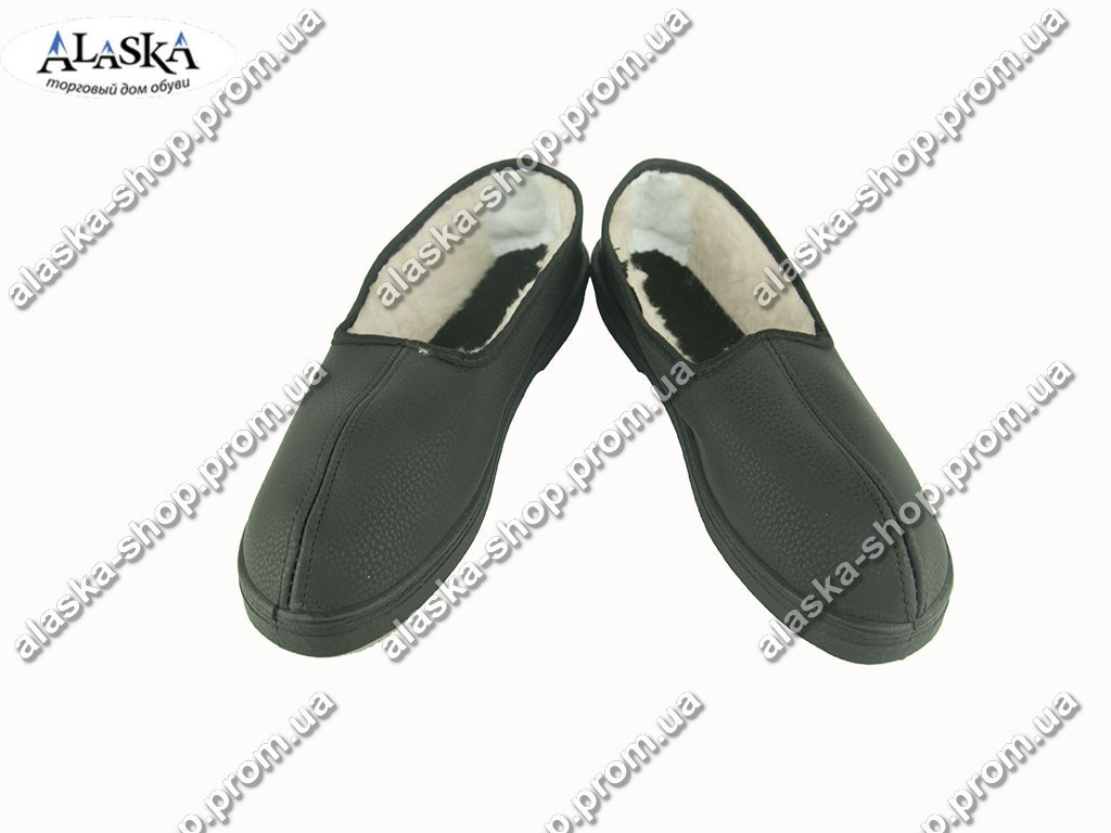 Женские бабуши черные (Код: Бабуши нубук)