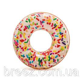 Надувной круг для плавания Пончик с присыпкой 114 см