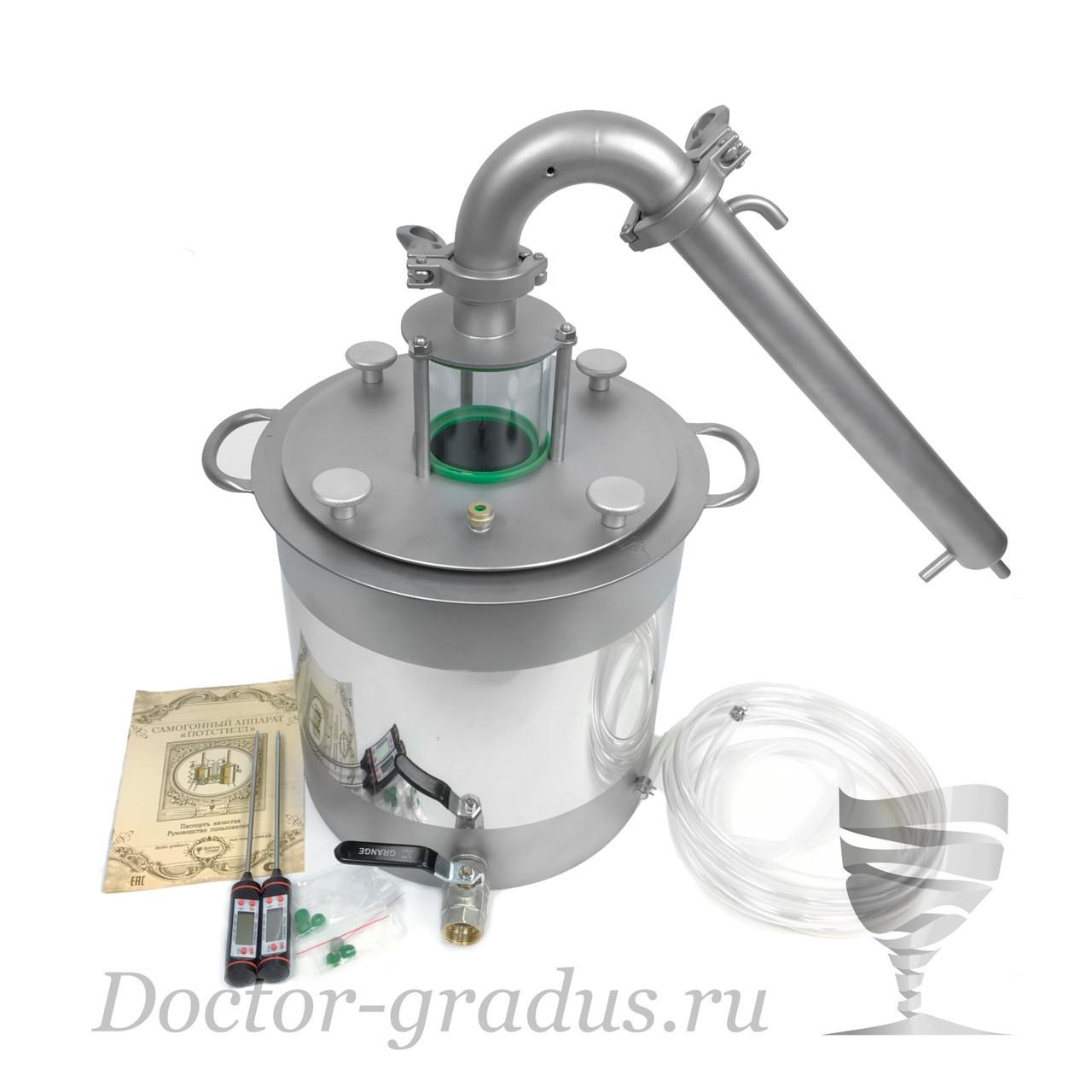 """Дистиллятор  Доктор Градус Потстилл 1,5"""" с кубом 21 литров"""