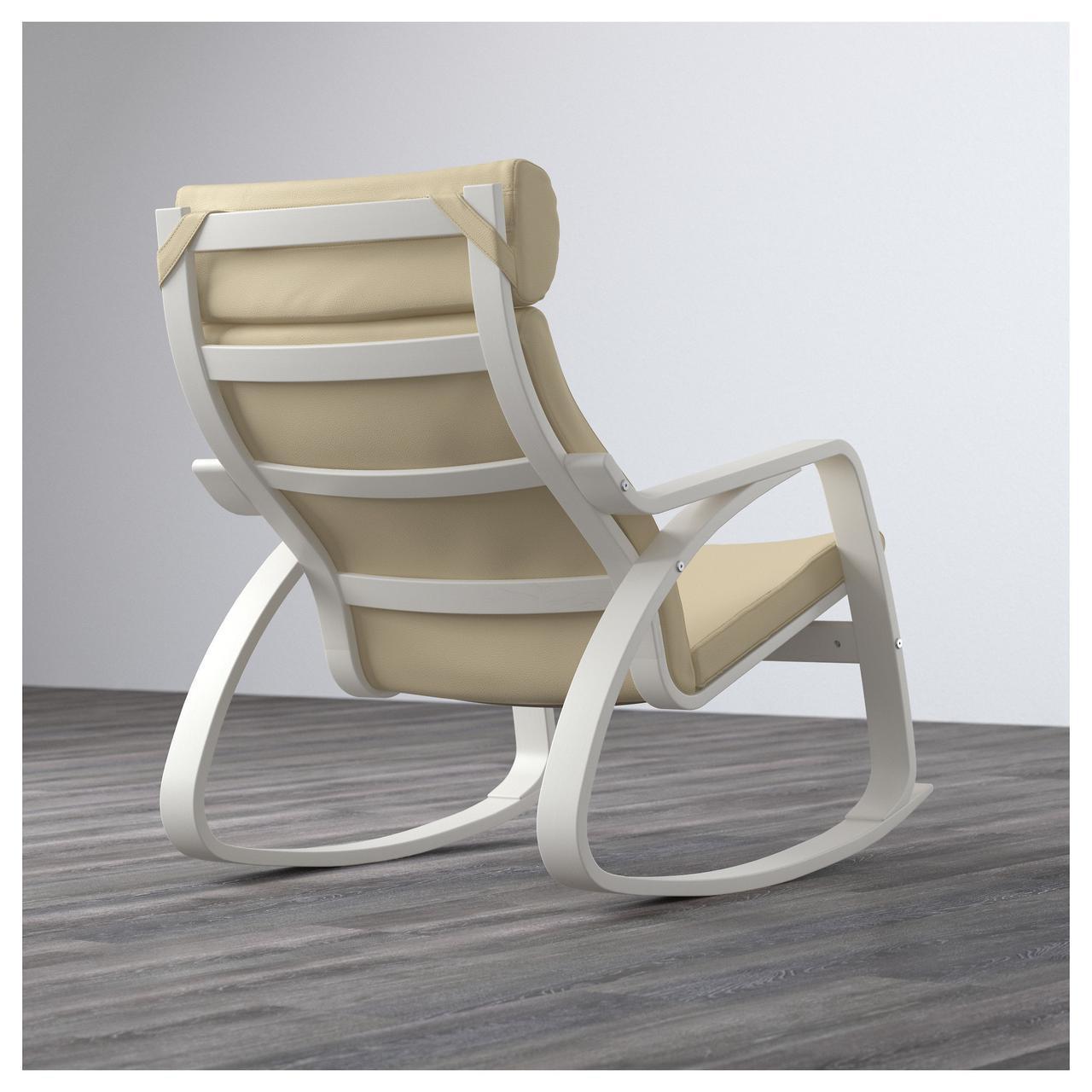 кресло качалка Ikea Poäng Glose кремовое белое 29163261 продажа