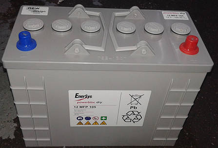 Гелевый тяговый аккумулятор Powerbloc Dry 12 MFP 105, фото 2