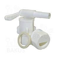 Кран пластиковый поворотный D25