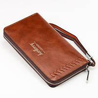 Мужской клатч-портмоне Baellerry Leather Коричневый