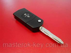 Заготовка выкидного ключа MAZDA ORIGINAL 2 кнопки  90#