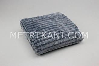 Minky Stripes плюш серого цвета 100*80см  №с-23