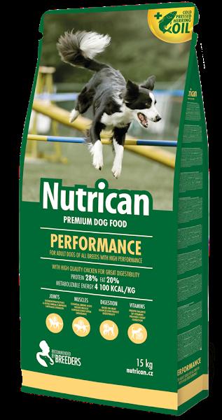Nutrican Perfomance 15 кг корм для активних собак