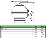 Пісочний фільтр Astral Vesubio D750, 22 м3/год, бокове підключення, фото 3