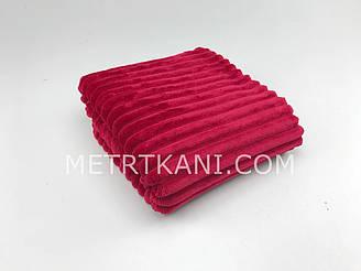 Minky Stripes плюш вишневый цвета 100*80см  №с-15