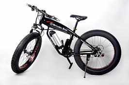 Горный Фэтбайк электровелосипед с широкими колесами Ultra Bike Mercedes + LCD 250 Вт черный цвет