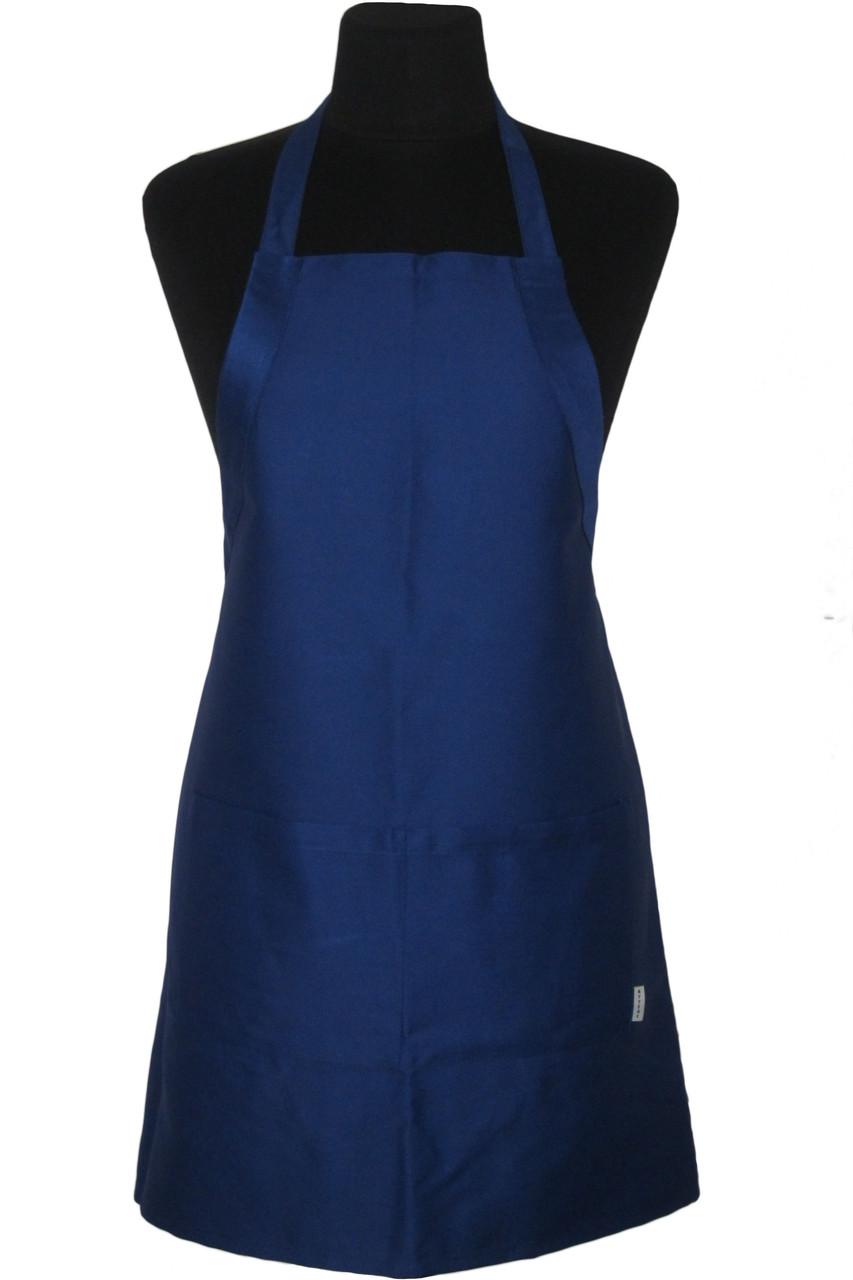 Фартук Atteks с нагрудником поварской / для официанта, бармена длинный темно-синий - 00207