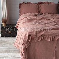 Комплект постельного белья 200x220 LIMASSO CAMEO BROWN EXCLUSIVE терракотовый