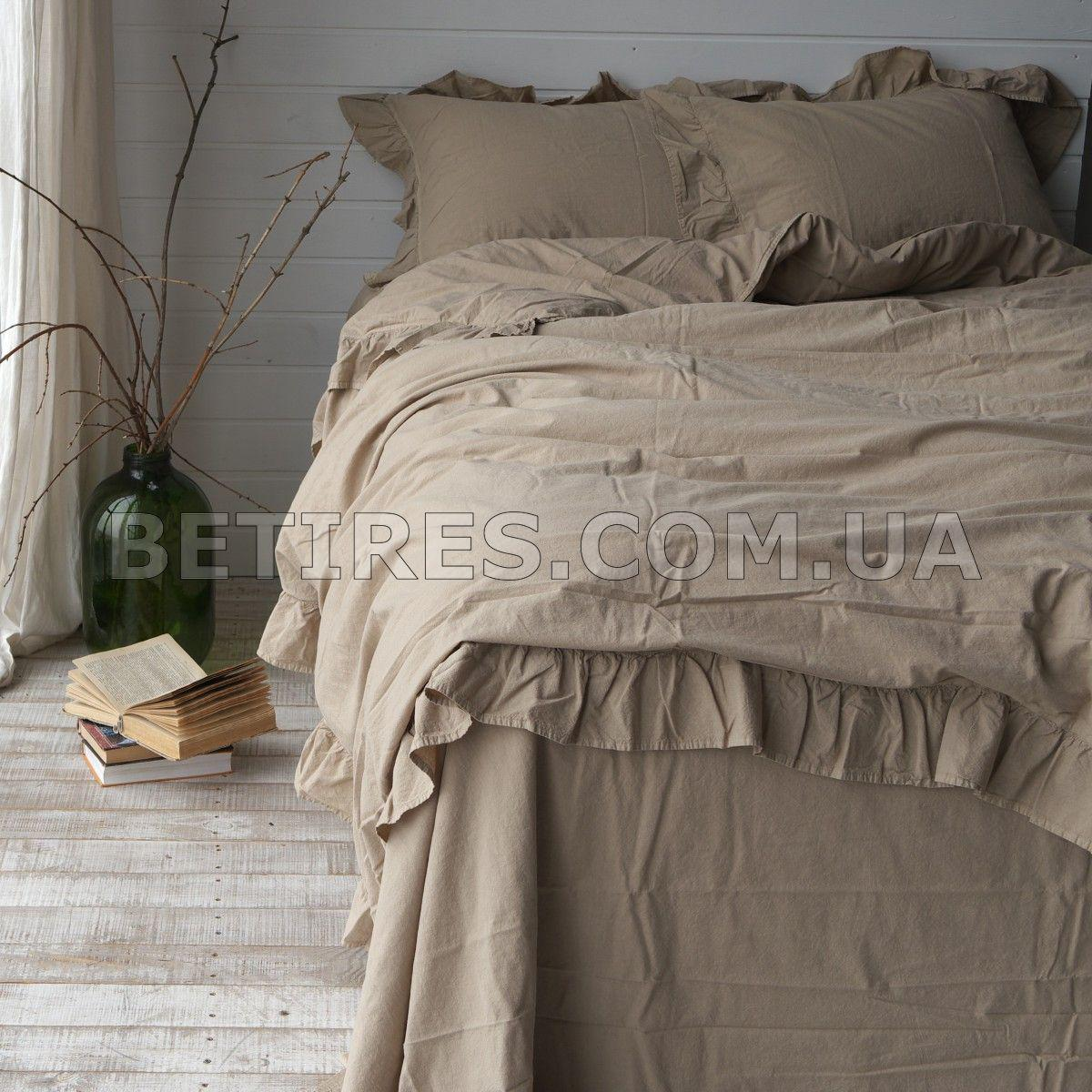 Комплект постельного белья 200x220 LIMASSO OXFORD TAN EXCLUSIVE бежевый