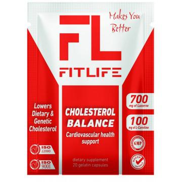 Зниження рівня холестерину FitLife Cholesterol Balance 20 caps