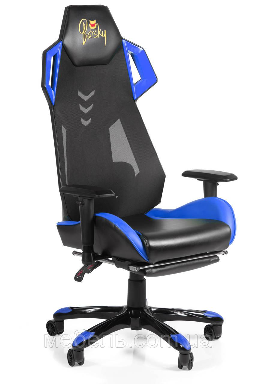Геймерское кресло игровое Barsky BGM-05 черно-голубое