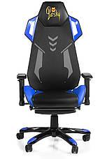 Геймерское кресло игровое Barsky BGM-05 черно-голубое, фото 2