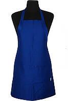 Фартук Atteks с нагрудником поварской / для официанта, бармена длинный синий - 00208
