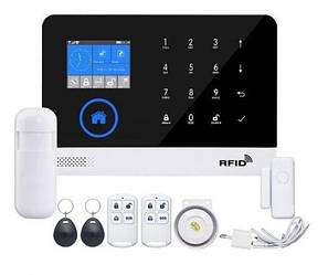 Сенсорная GSM сигнализация для дома с датчиком движения и WIFI Alarm JYX G600