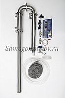 Дистиллятор Сан Саныч «Мега-Хард» СС-3.С царгой 70 см, кожухотрубный дефлегматор, фото 1