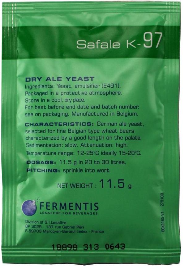 Пивные дрожжи Fermentis К-97