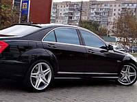 Пороги стиль AMG на Mercedes S-class W221, фото 1