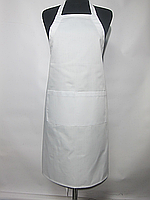Фартук Atteks с нагрудником поварской / для официанта, бармена длинный белый - 00209