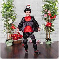 Новогодний костюм для мальчика Божья коровка рост 110-122