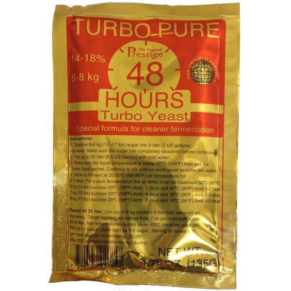 Турбо дрожжи Prestige Turbo Pure 48 Hours