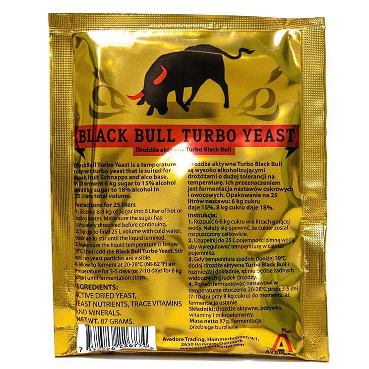 Турбо дрожжиPrestige Black Bull Turbo Yeast