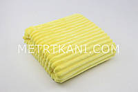 Плюш Minky Stripes ясно-желтый 100*80 № с-58