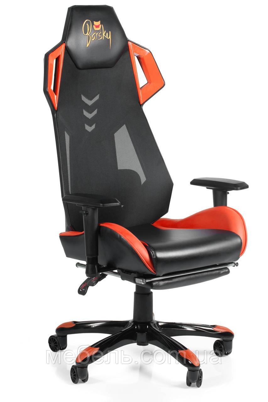 Игровое кресло геймерское Barsky BGM-08 черно-оранжевое