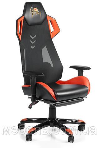 Игровое кресло геймерское Barsky BGM-08 черно-оранжевое, фото 2