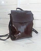 Стильные кожаные рюкзачки трансформеры , кожаный рюкзак коричневый , кофе  кожаный рюкзак, фото 1