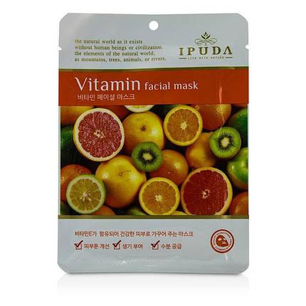 Витаминная тканевая маска IPUDA Facial Mask - Vitamin , фото 2