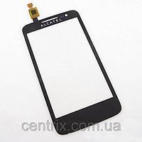 Тачскрин (сенсор) для Alcatel 5020D One Touch M'Pop Dual алькатэль, цвет черный