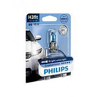 Галогенная лампа Philips CrystalVision H3 12V 12336CVB1 (1шт.)