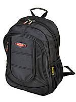 Черный городской рюкзак 8821 black