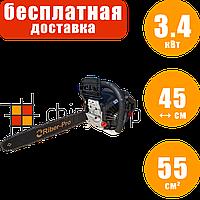 Бензопила цепная Riber MZ59YS, 3.4 кВт, 45 см, пила цепная бензиновая, мотопила для дома, бензо пила