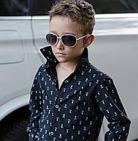 Стильна сорочка для хлопчика №618 / чорна
