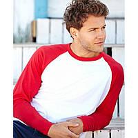 Мужская футболка комбинированная с длинным рукавом Long Sleeve Baseball 61-028-0