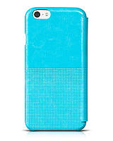 Кожаный чехол-книжка Hoco Crystal Series Fashion Case для Apple iPhone 6, light blue