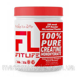 Креатин FitLife 100% Pure Creatine Monohydrate 225 g