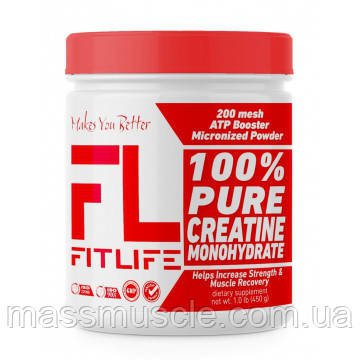 Креатин FitLife 100% Pure Creatine Monohydrate 450 g