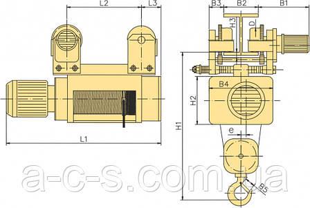Тельфер MPM516 H6.3 V8 2x1N20, фото 2